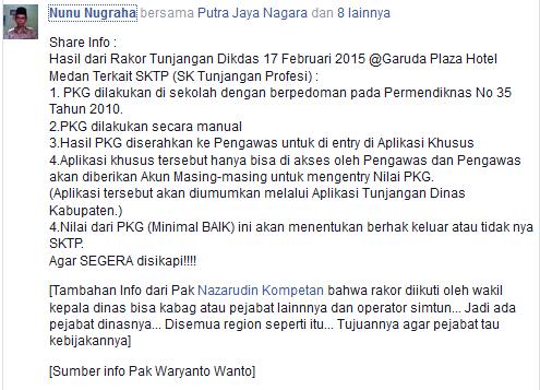 Info Penerbitan SK Tunjangan Profesi 2015