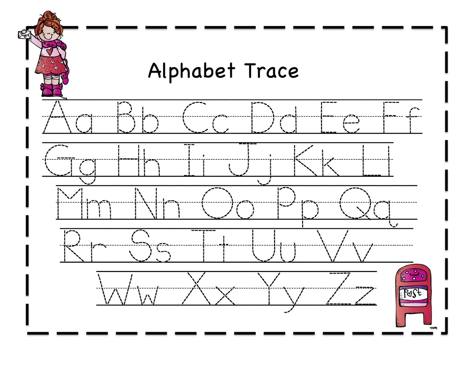 Worksheets Trace Alphabet tracing abc worksheets rringband trace worksheet workbook site