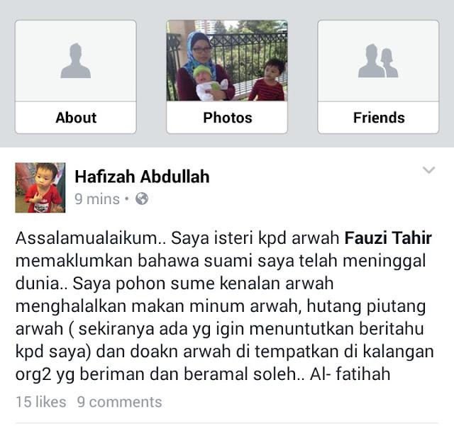 rider meninggal dunia malaysia
