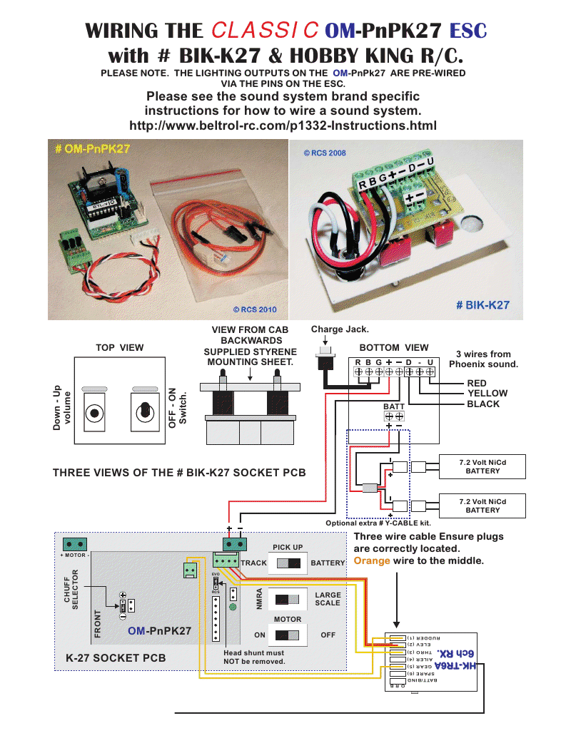 September 2012 Hobbies Rc Helicopter And Airplane Esc Wiring For Quadcopter Furthermore Parts Diagram The Classic Om Pnpk27 With Bik K27 Hobby King R C Please Note Lighting Outputs On Are Pre Wired Via Pins