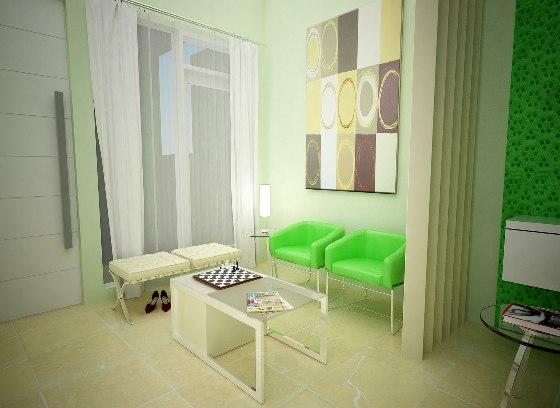 interior dari rumah minimalis tipe 36