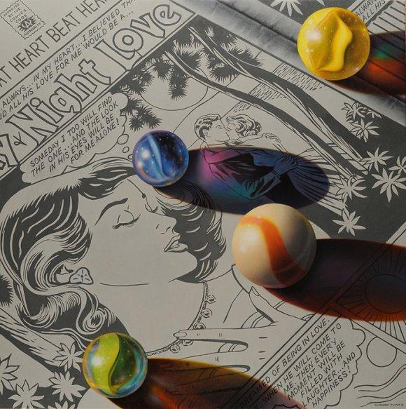 glennray tutor pinturas hiper realistas fotorealistas revistas quadrinhos bolinhas de gude bombinhas rojões