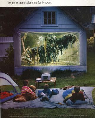outdoor theatre on garage