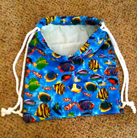 Children's Drawstring lined backpack