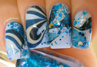 Water marble with Pocket Money Polishes Keep The Faith