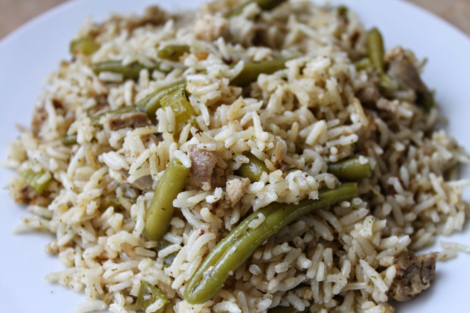 Fancy Food Thoughts : Green Bean Chicken + Rice