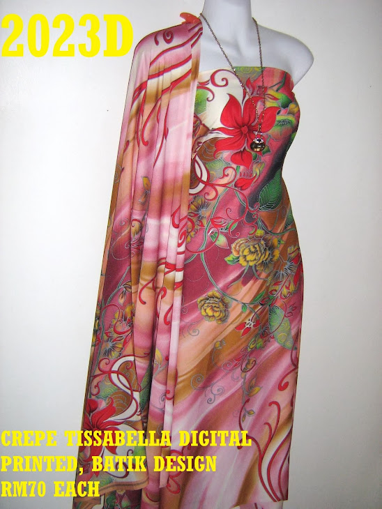 CTD 2023D: BATIK CREPE TISSABELLA DIGITAL PRINTED, EXCLUSIVE DESIGN, 4 METER