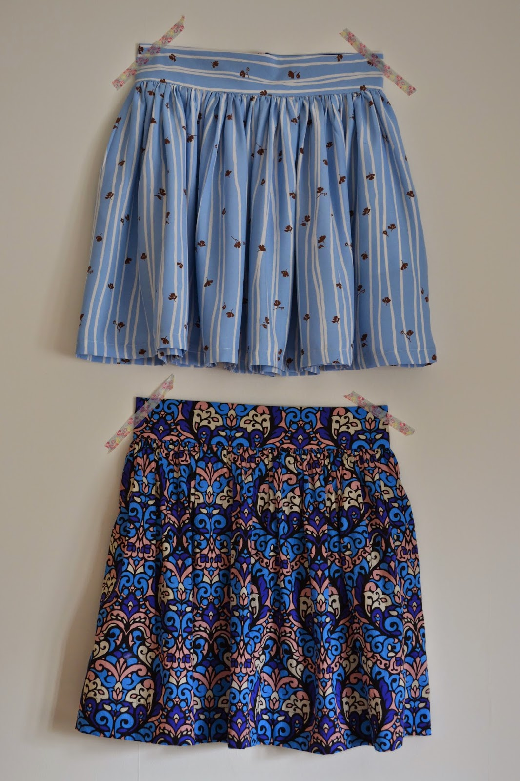 kitchen table sewing clemence skirt