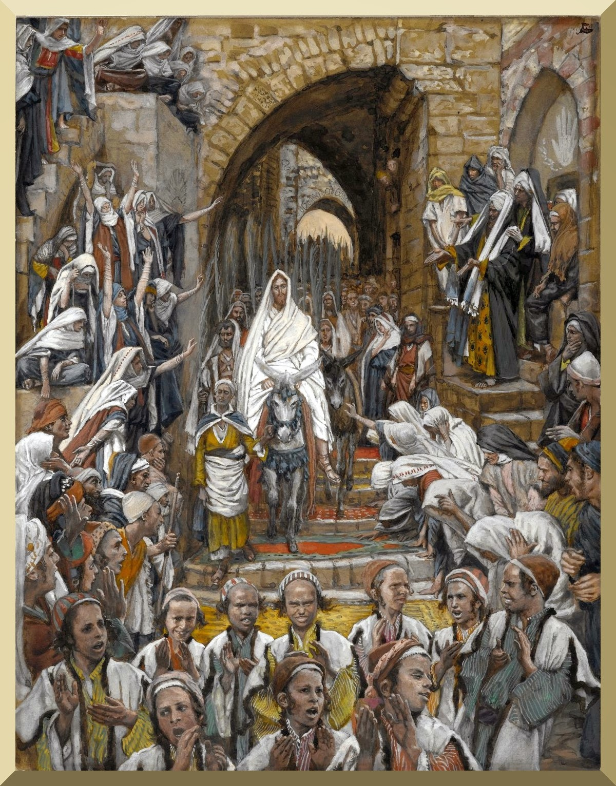 """The Procession in the Streets of Jerusalem"" -- by James Tissot"