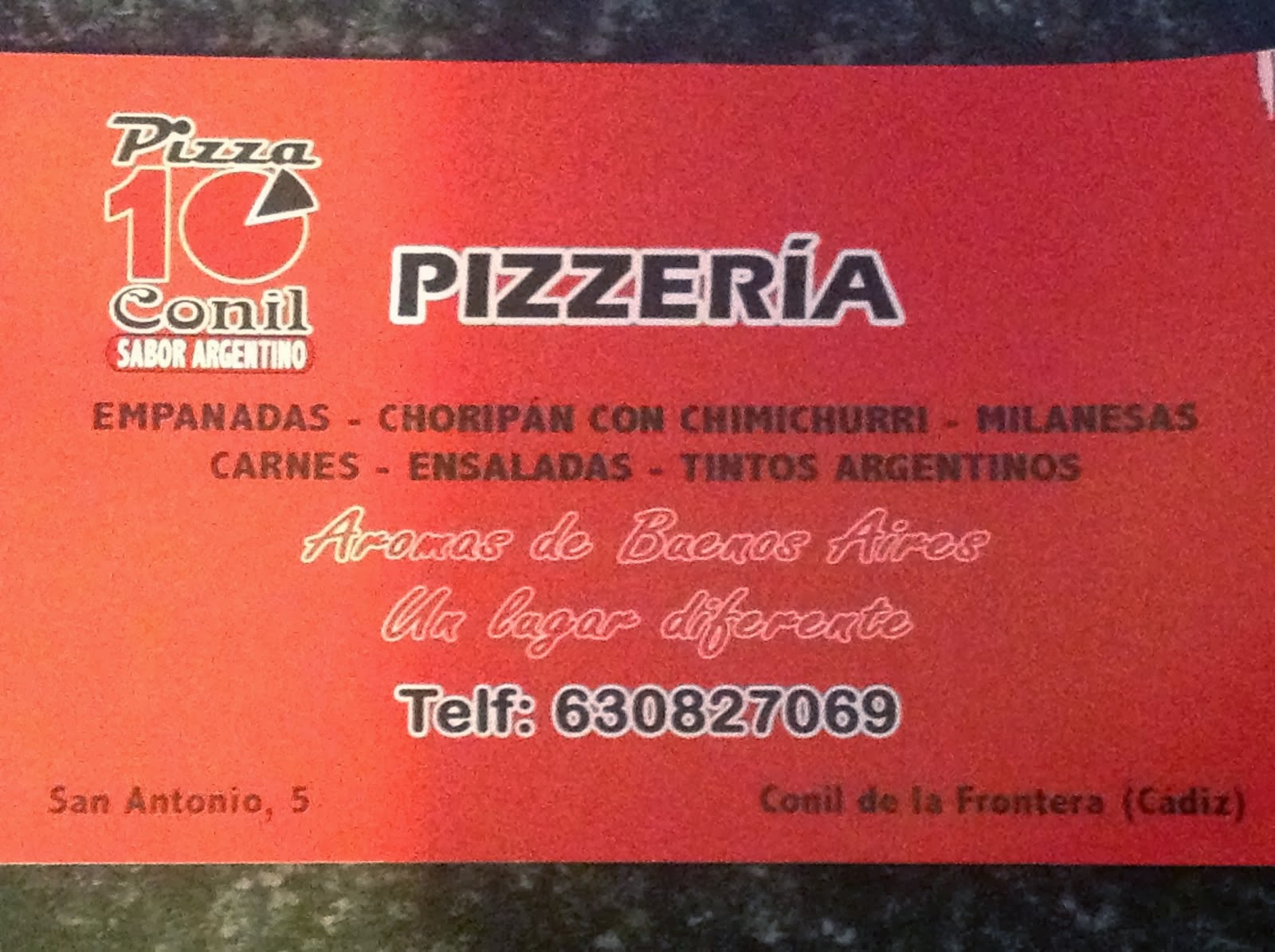 PIZZA 10 El Argentino