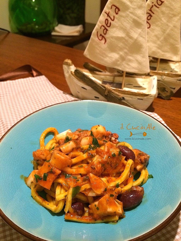 olive di gaeta, pesta con polpo