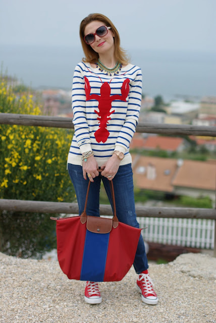 Longchamp customized Le Pliage , Lobster sweater, Fashion and Cookies