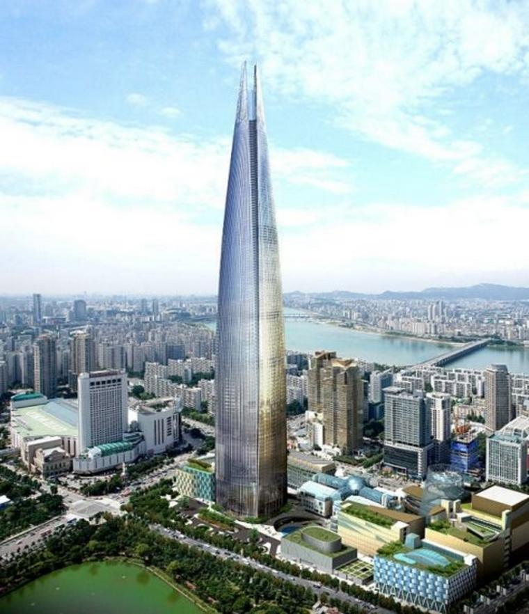 Lotte World Tower in Seoul, South Korea