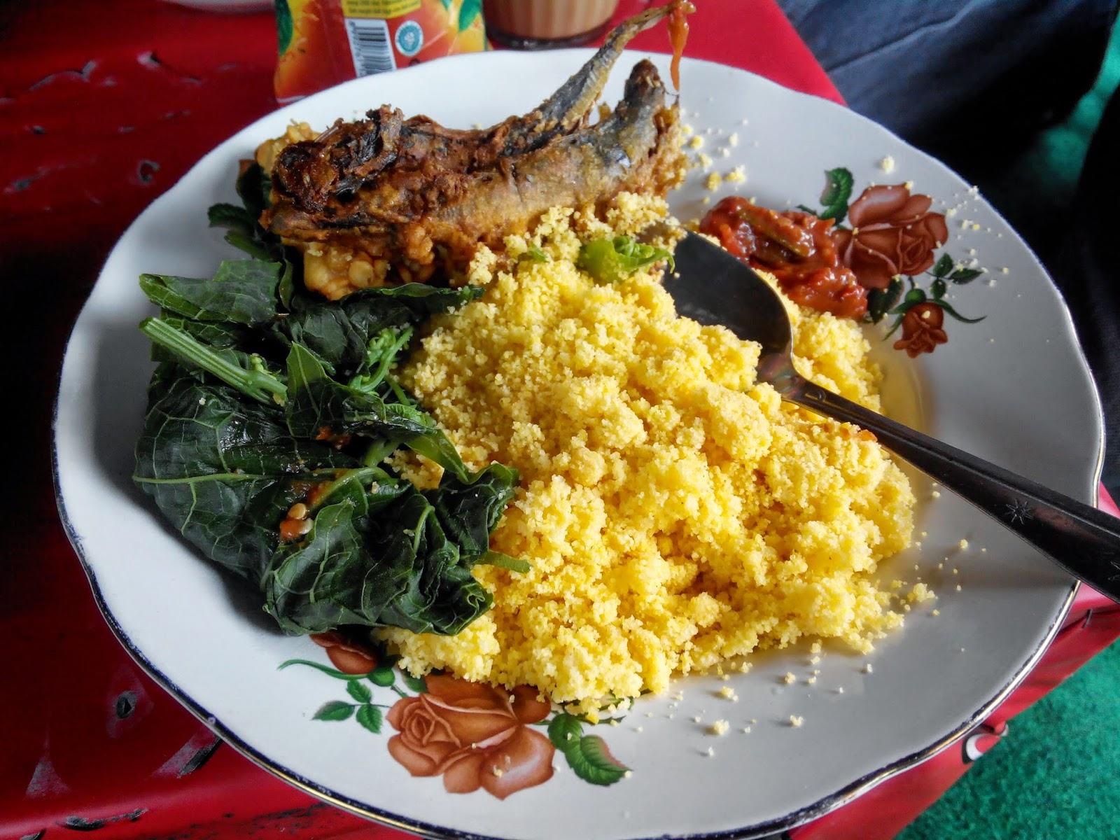 Nasi Jagung (Sego ampok) Khas Kediri Yang Bikin Awet Muda