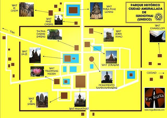 Mapa-Sukhothai