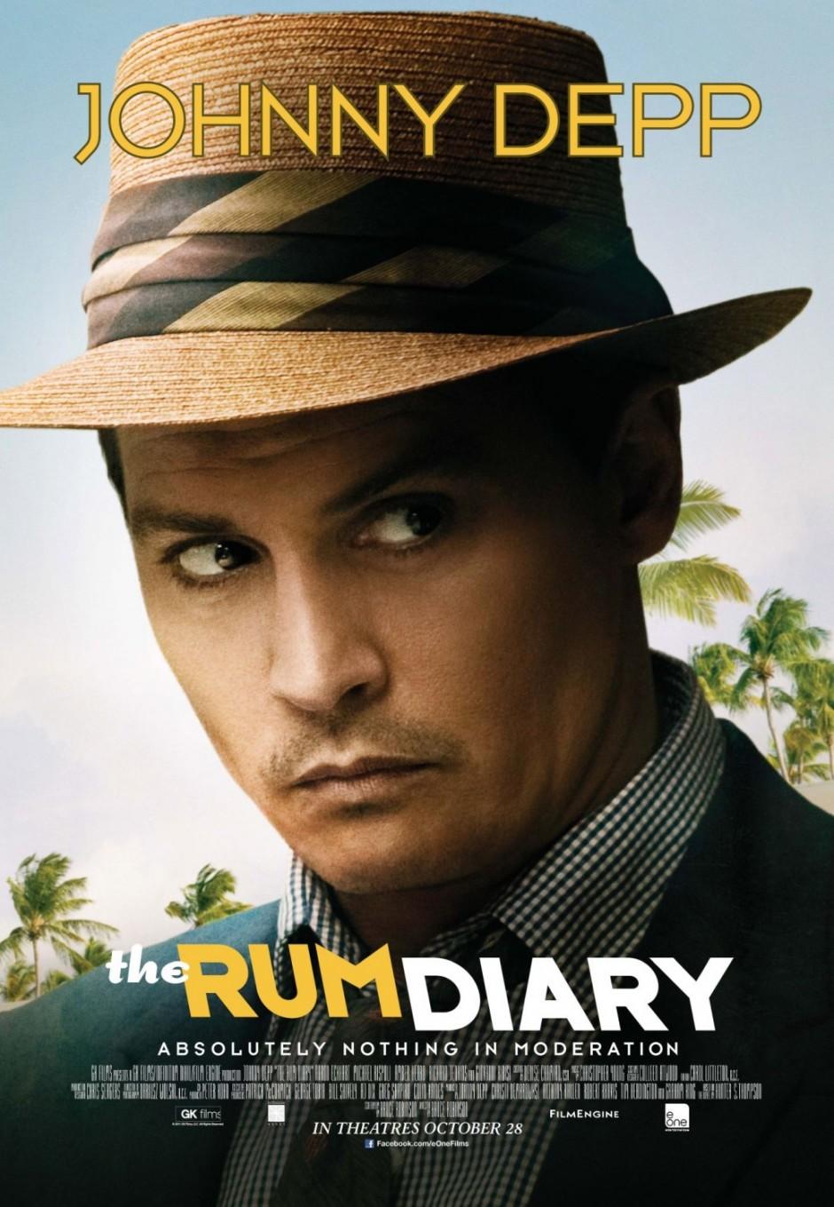 Google chrome themes johnny depp - The Rum Diary Poster