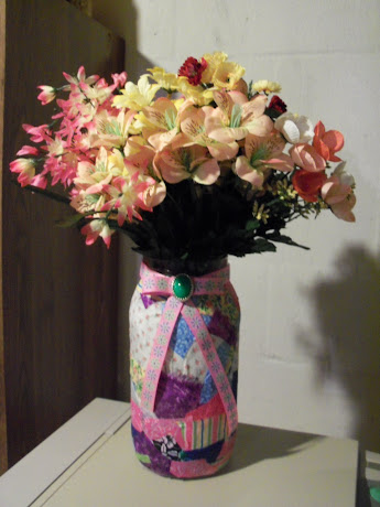 Collage Jar with Flowers