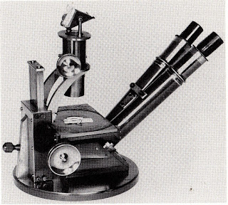 binocular micorscope invented and built by John Leonard Riddell