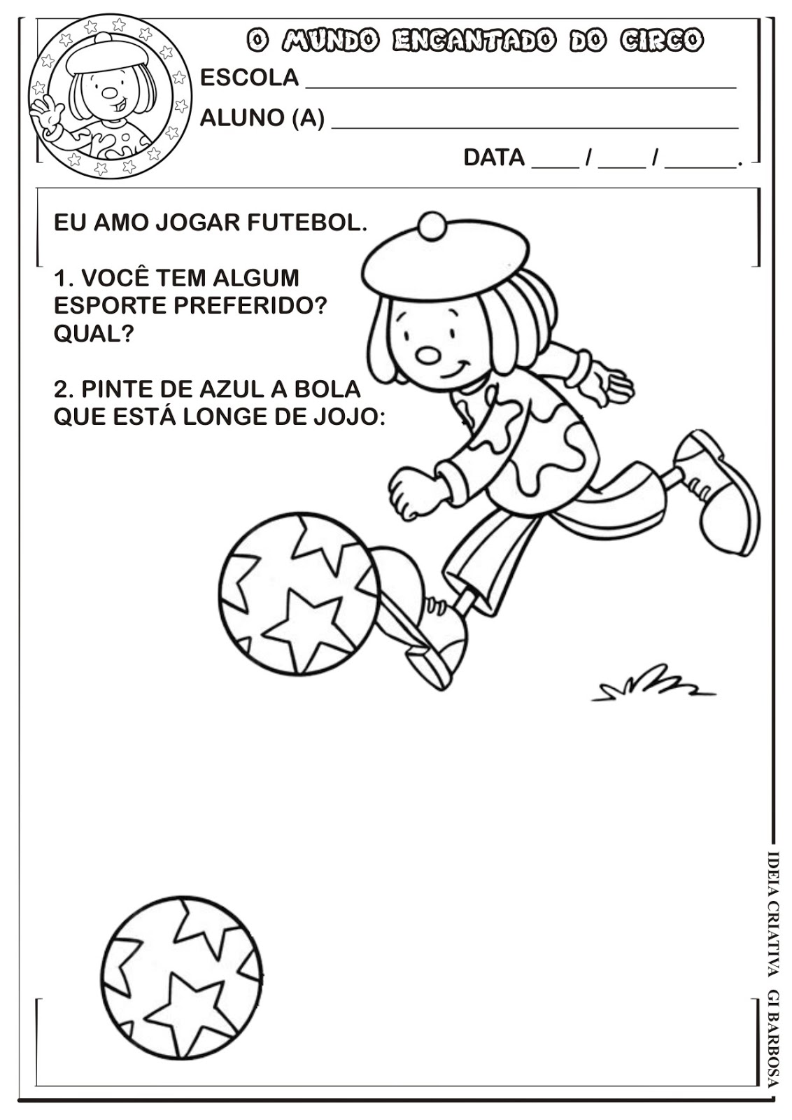 Famosos Atividade Projeto Circo Conceito | Ideia Criativa - Gi Barbosa  OS33