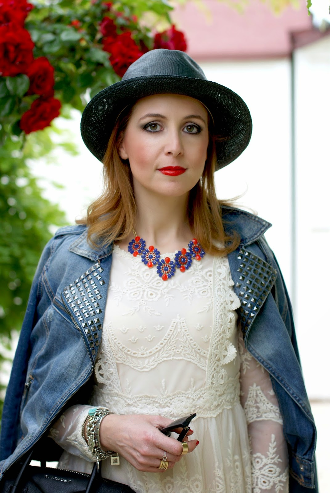 Chicwish lace dress, Ecua-Andino hat, Majestical necklace, Fashion and Cookies, fashion blogger