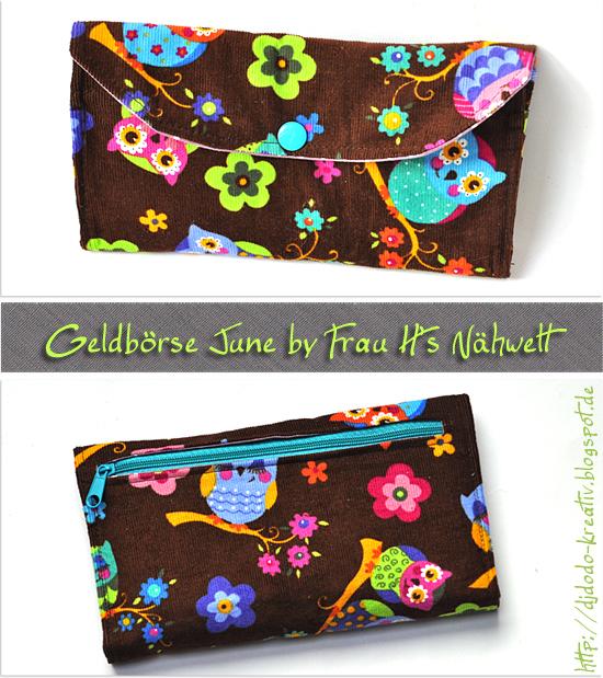 Geldbörse June by Frau H's Nähwelt