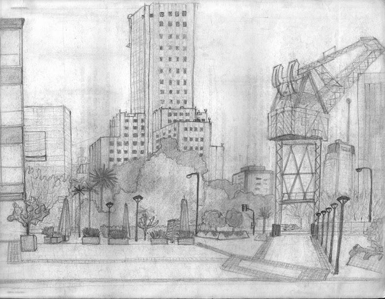 Dibujos Arquitectonicos Bocetos Materia Representaci N