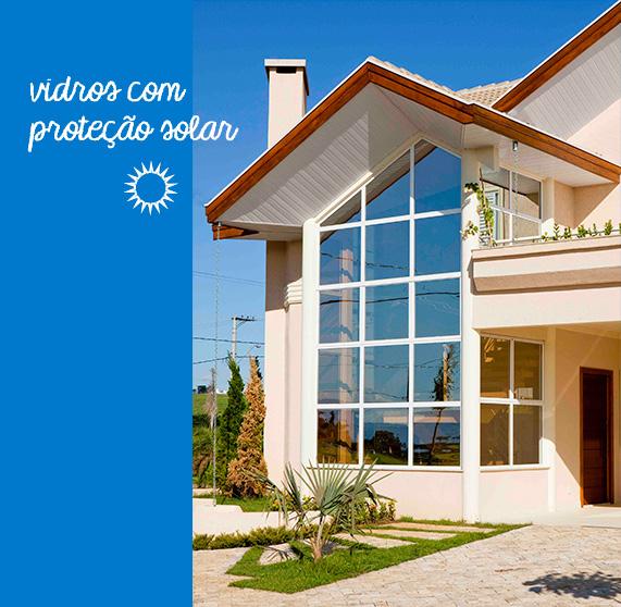 Vidros com proteção solar