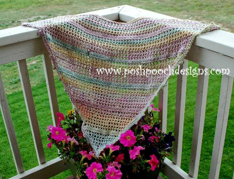 ... Dog Clothes: Everyday Shawl Crochet Pattern For Worsted Weight Yarn