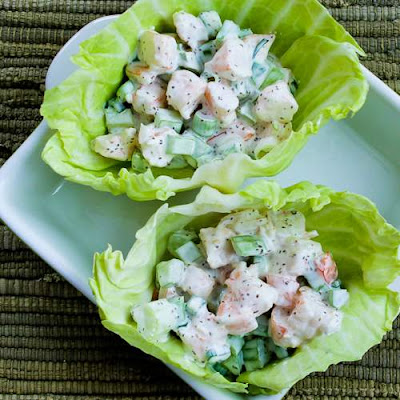 Shrimp Salad Cabbage Cups found on KalynsKitchen.com