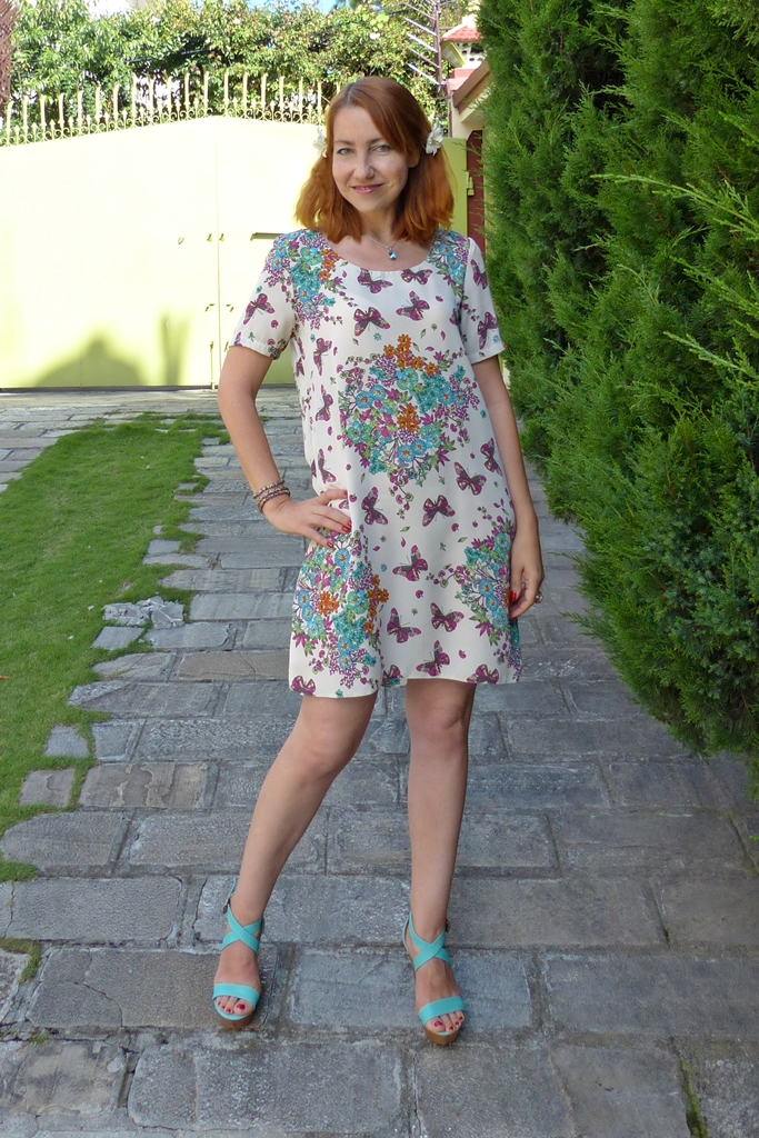 Butterflies floral summer dress