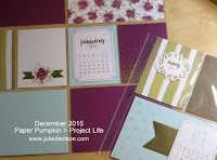 December 2015 Paper Pumpkin One Great Year Project Life page www.juliedavison.com