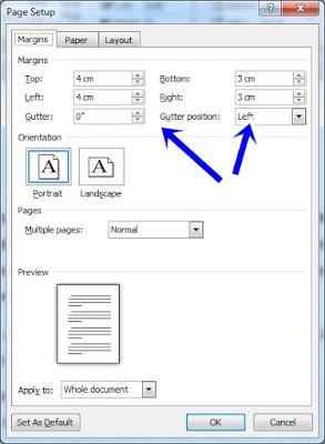 Cara Mengatur Ukuran Kertas dan Margin pada Ms. Word