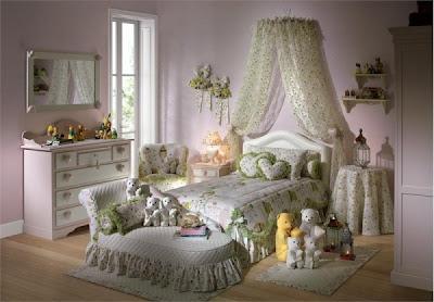 decoración romántica habitación niña