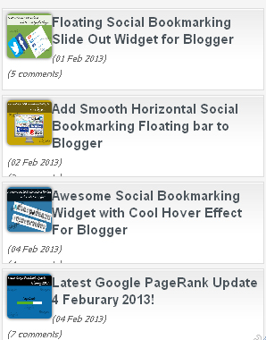 Add Auto Scrolling Recent Posts Widget With JQuery Spy Effect to Blogger