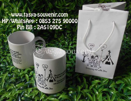 Souvenir Pernikahan Gelas Mug Murah | Souvenir Gelas Mug | Souvenir ...