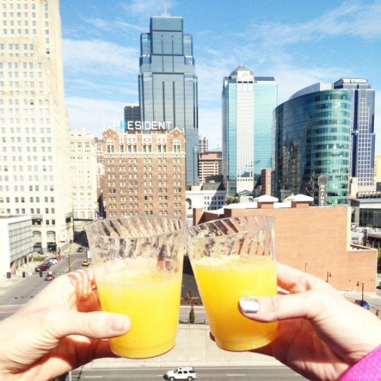 mimosas on the rooftop