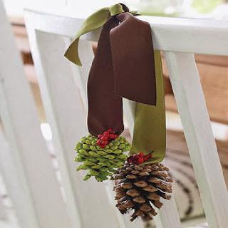 Navidad, decoración de Sillas, parte 1