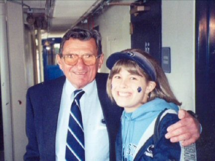 Cancer patient Nicole Sheriff with Joe Paterno