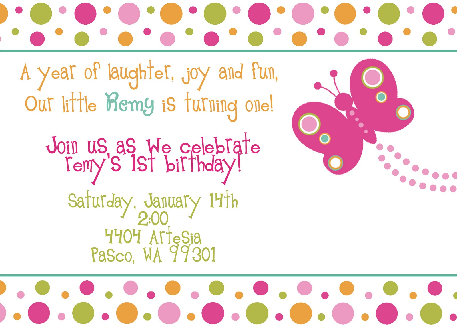 These Are Her Birthday Invitations I Had Jennifer From Jaebirdesign