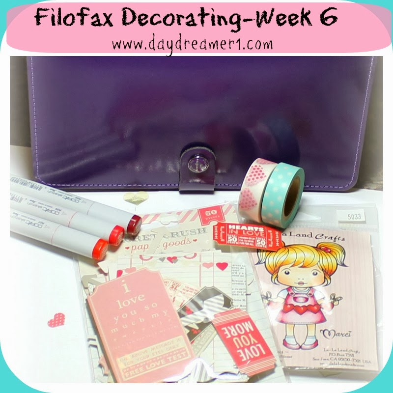 Filofax Decorating-Week 6-Valentine's Day Themed