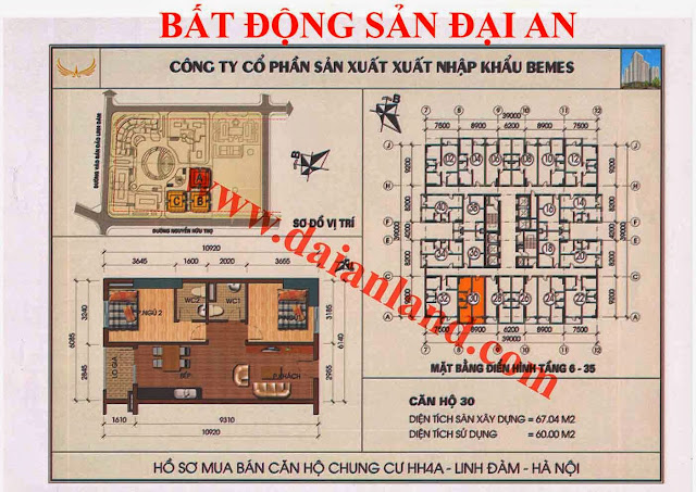 Căn hộ số 30 - Chung Cư HH4A Linh Đàm