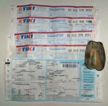 bukti pengiriman barang via TIKI -JNE