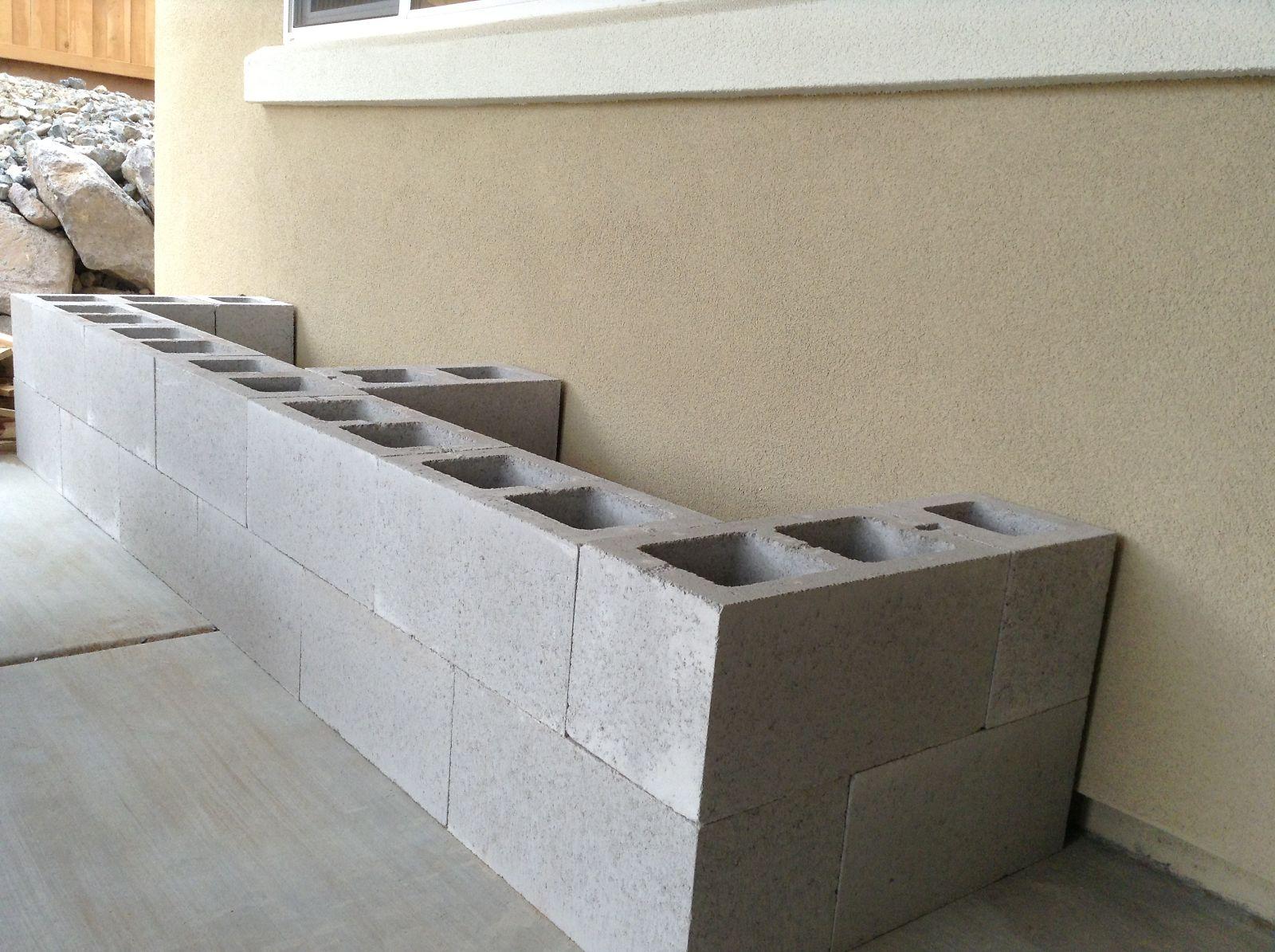 Hello Daly Mini Patio Project Cinder Block Bench