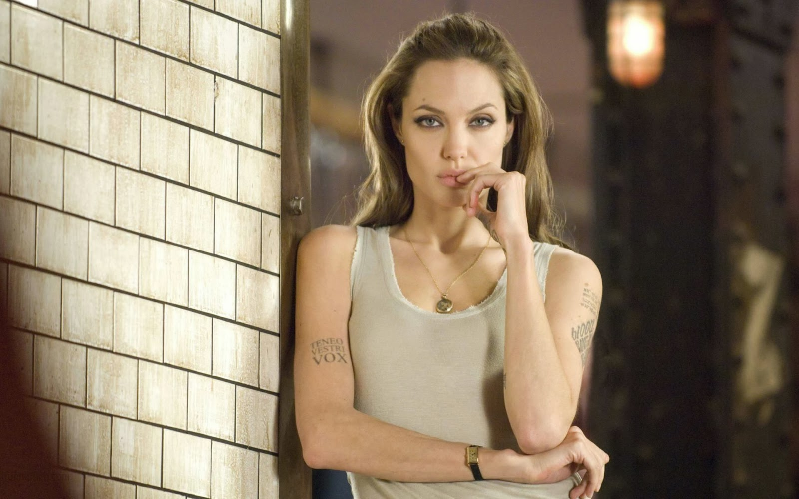 Angelina Jolie in Naughty Mood Wallpaper