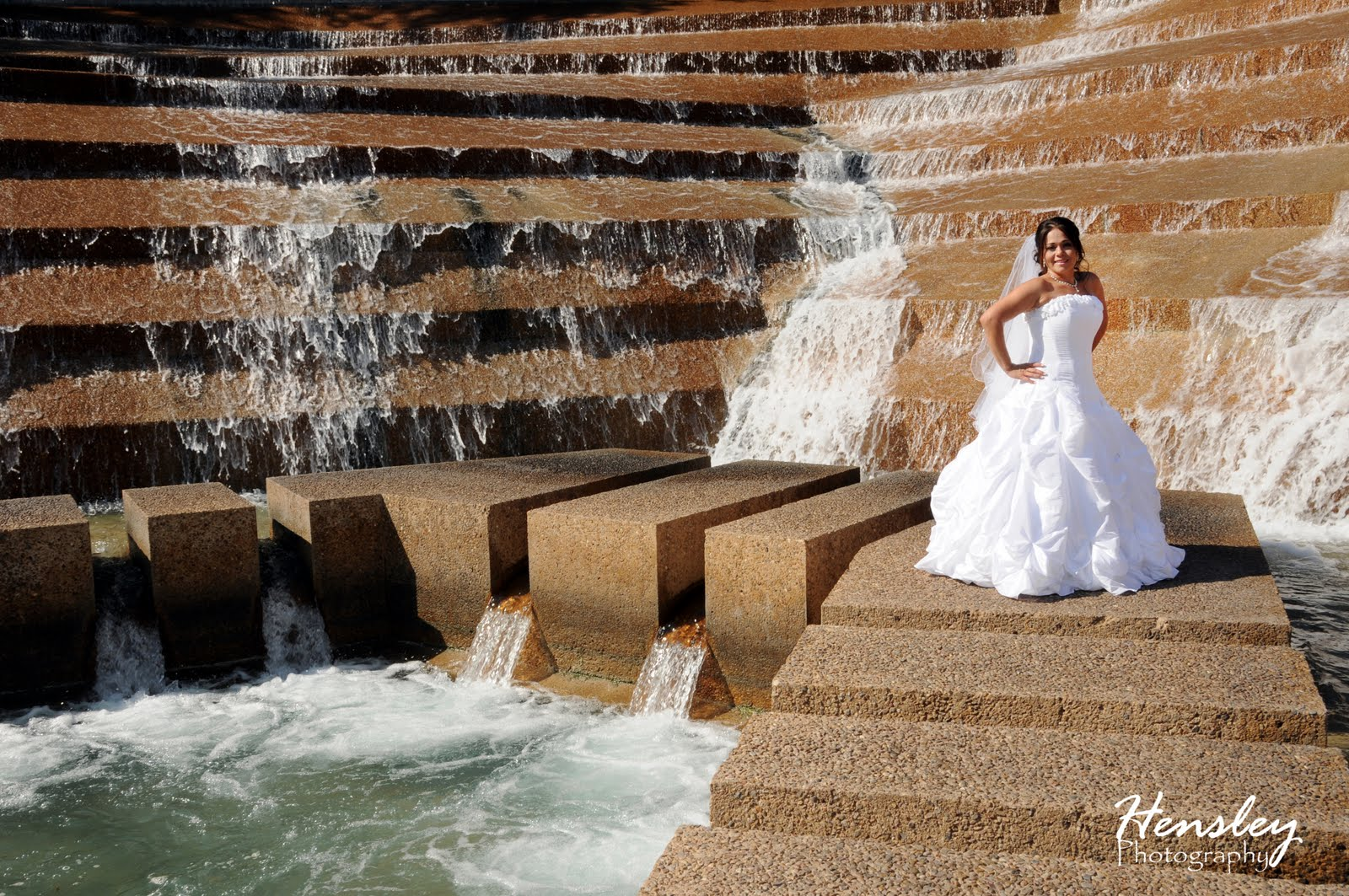 Hensley photography bridal portraits at the ballpark in - Fort worth water gardens wedding ...