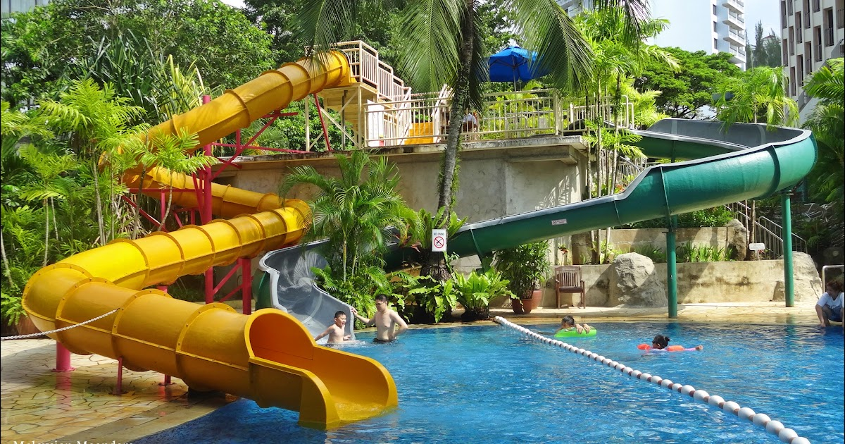 Malaysian meanders swim parties at the parkroyal resort for Best hotel swimming pools for kids