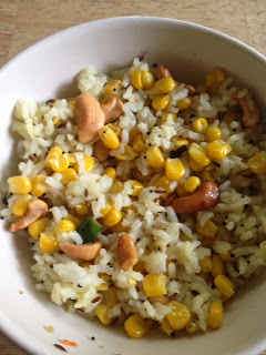 Sweet Corn Jeera Rice