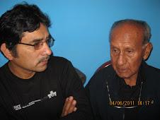 Felix y papa viejo en plena charla...