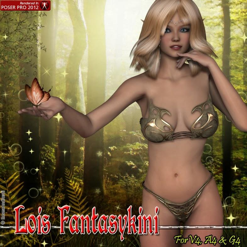 http://www.renderosity.com/mod/bcs/lois-fantasykini-for-v4-a4-g4/103245/