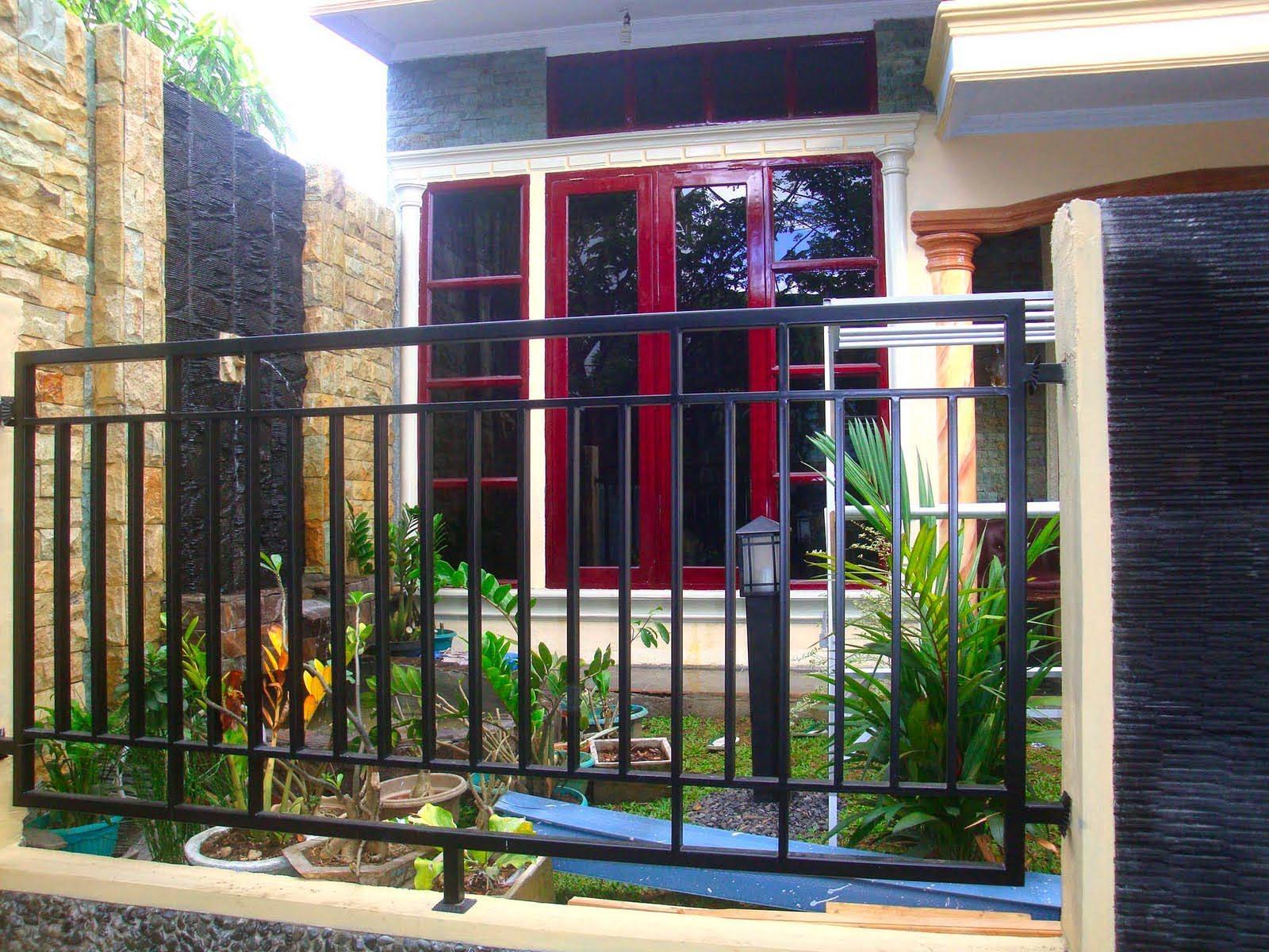 contoh desain pagar rumah untuk rumah minimalis rumah